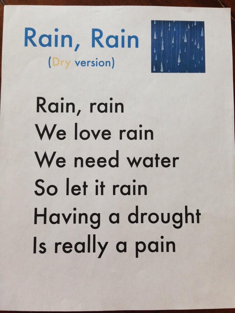 Rain, Rain lyrics