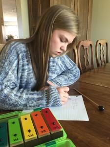 Rebecca composing